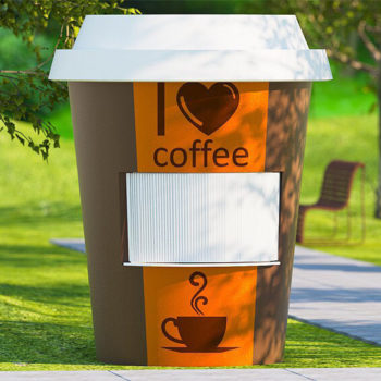 Kontenery dla sprzedaży kawy